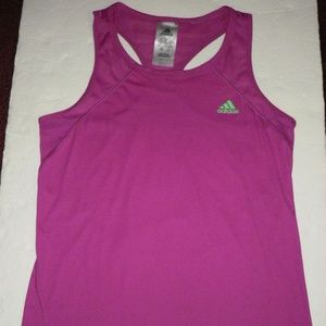 Adidas Climalite purple racer back top S